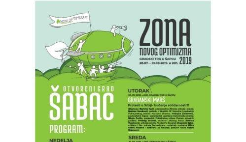 Zona Novog Optimizma i ovog leta u Šapcu od 28. jula do 1. avgusta 1