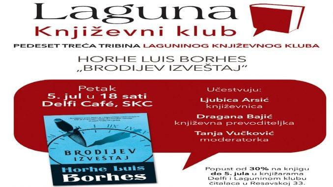 O Borhesu u okviru Laguninog književnog kluba 5. jula u knjižari Delfi SKC 2