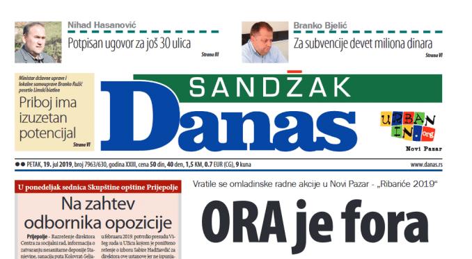 Sandžak Danas - 19. jul 2019. 1
