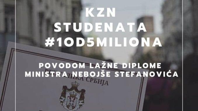 Studenti zatražili uvid u ocene i diplomu Nebojše Stefanovića (VIDEO) 4
