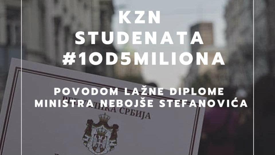 Studenti zatražili uvid u ocene i diplomu Nebojše Stefanovića (VIDEO) 1
