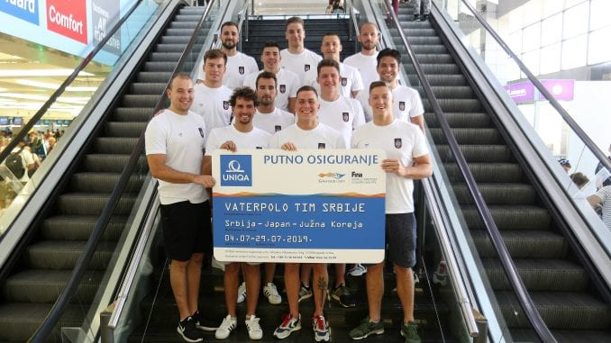 Vaterpolo reprezentacija Srbije otputovala na Svetsko prvenstvo 1