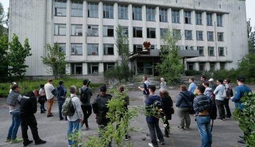 Novi sarkofag na reaktoru u Černobilju predstavljen medijima 11
