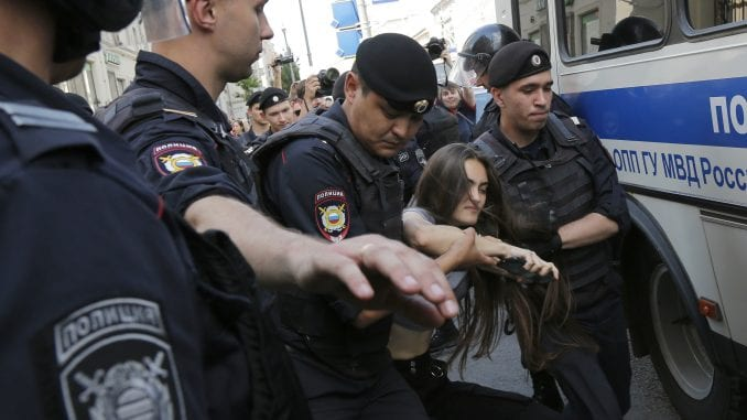 Oko 300 ljudi uhapšeno na protestima opozicije u Moskvi 3