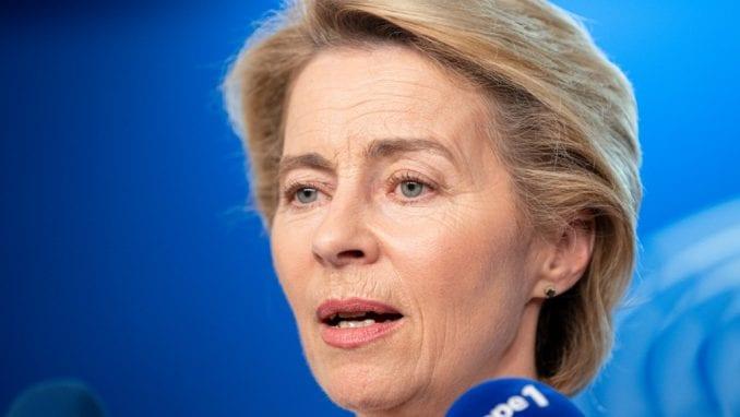 Ursula fon der Lajen u kampanji u Evropskom parlamentu 1