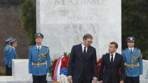 Makron u Srbiji: Francuska nikada neće zaboraviti žrtvovanje srpskog naroda 12