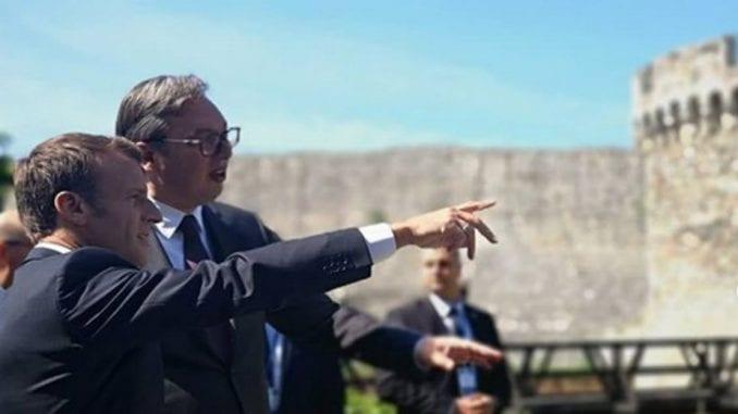 Makron i Vučić usvojili zajedničku izjavu 4