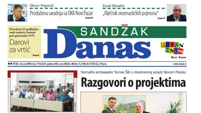 Sandžak Danas 12. jul 2019. 1