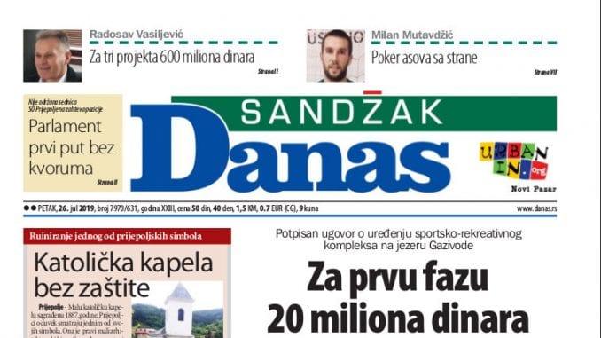 Sandžak Danas - 26. jul 2019. 1