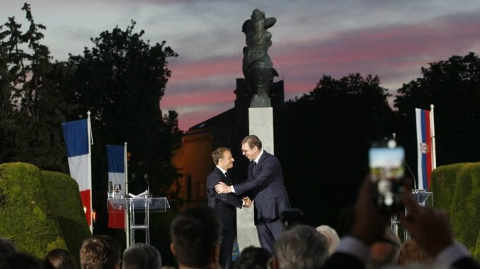 Makron u Srbiji: Francuska nikada neće zaboraviti žrtvovanje srpskog naroda 3