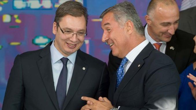 Raste nepoverenje između Vučića i Đukanovića 1
