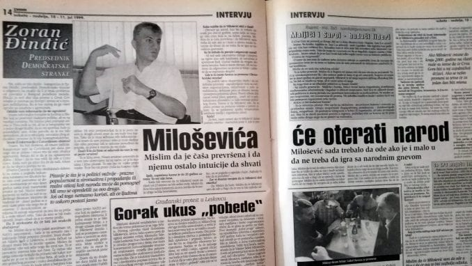 Zoran Đinđić (1999): Miloševića će oterati narod 1