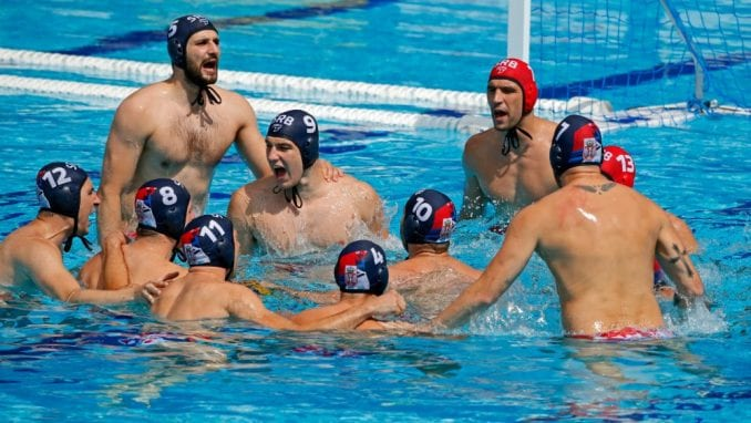 Vaterpolisti Srbije protiv Španije u četvrtfinalu EP 4