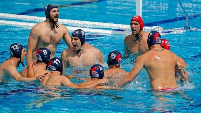 Vaterpolisti Srbije protiv Španije u četvrtfinalu EP 3