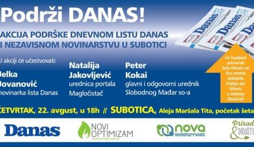 Akcija podrške listu Danas 22. avgusta u Subotici 2