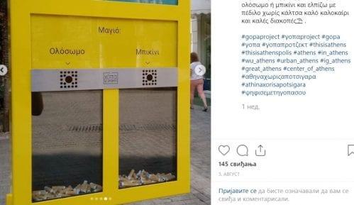 """""""Glasačka kutija s opušcima"""" za čiste trotoare u Grčkoj 12"""