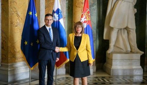 Predsednica Skupštine Srbije i premijer Slovenije razgovarali o saradnji 15