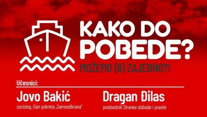 """Tribina """"Kako do pobede - Možemo (li) zajedno?!"""" 16. avgusta na Novom Beogradu 4"""
