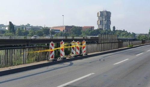 Sutra radovi na sanaciji oštećenja ograde na Pančevačkom mostu 1