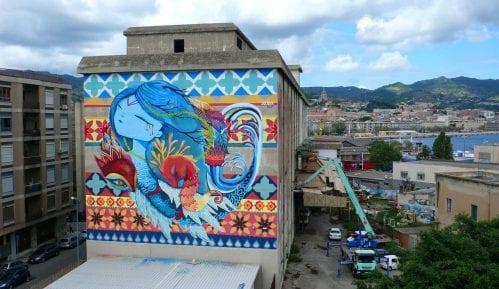 Španska ulična umetnica Julieta XLF slika mural u Beogradu 5