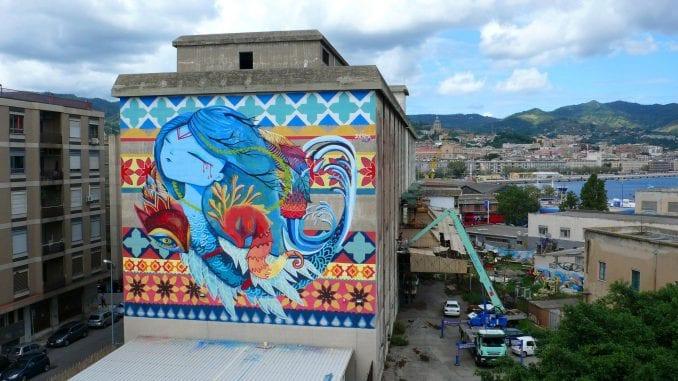 Španska ulična umetnica Julieta XLF slika mural u Beogradu 2