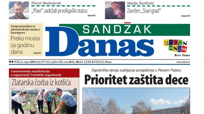Sandžak Danas – 2. avgust 2019. 1