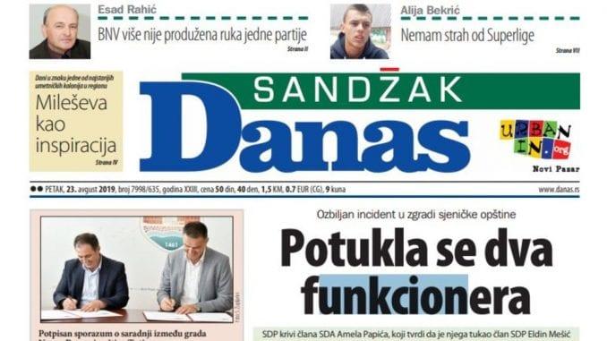 Sandžak Danas - 23. avgust 2019. 1