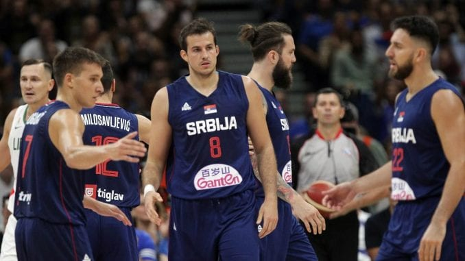 Srpski košarkaši pobedili Litvaniju u pripremnoj utakmici za SP 1