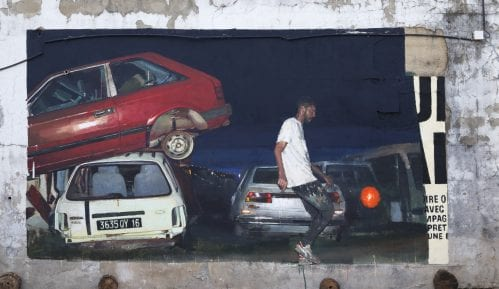 Street art zvezda Sebastian Vesaco oslikava mural u Beogradu 1