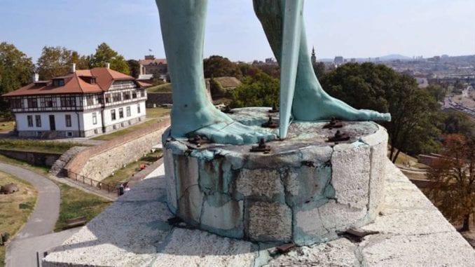 Zbog demontaža spomenika Pobednik, Gornji grad Beogradske tvrđave zatvoren za posetioce 1