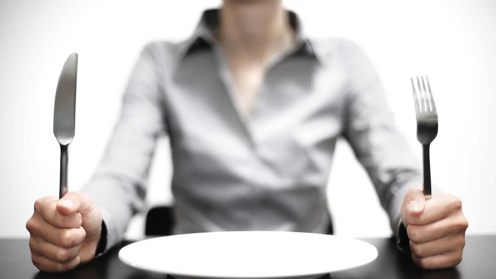 Woman with a plate