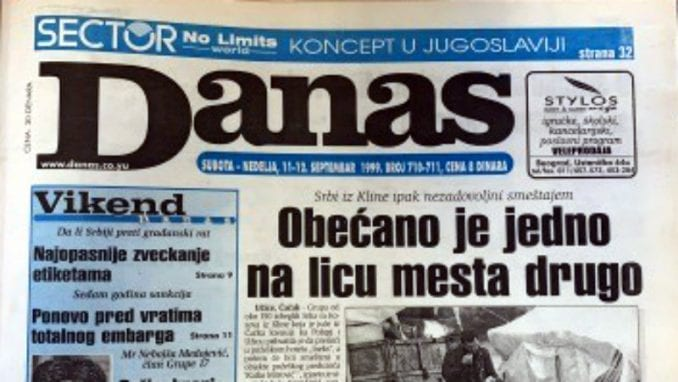 Danas (1999): Vuk i Danica Drašković - prvi par jugoslovenske opozicije 3