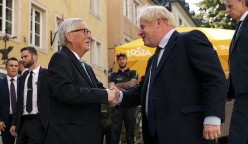 Boris Džonson i Žan-Klod Junker u Luksemburgu o Bregzitu 2