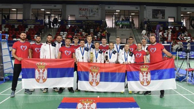 Srbija je vicešampion Evrope u badmintonu 3