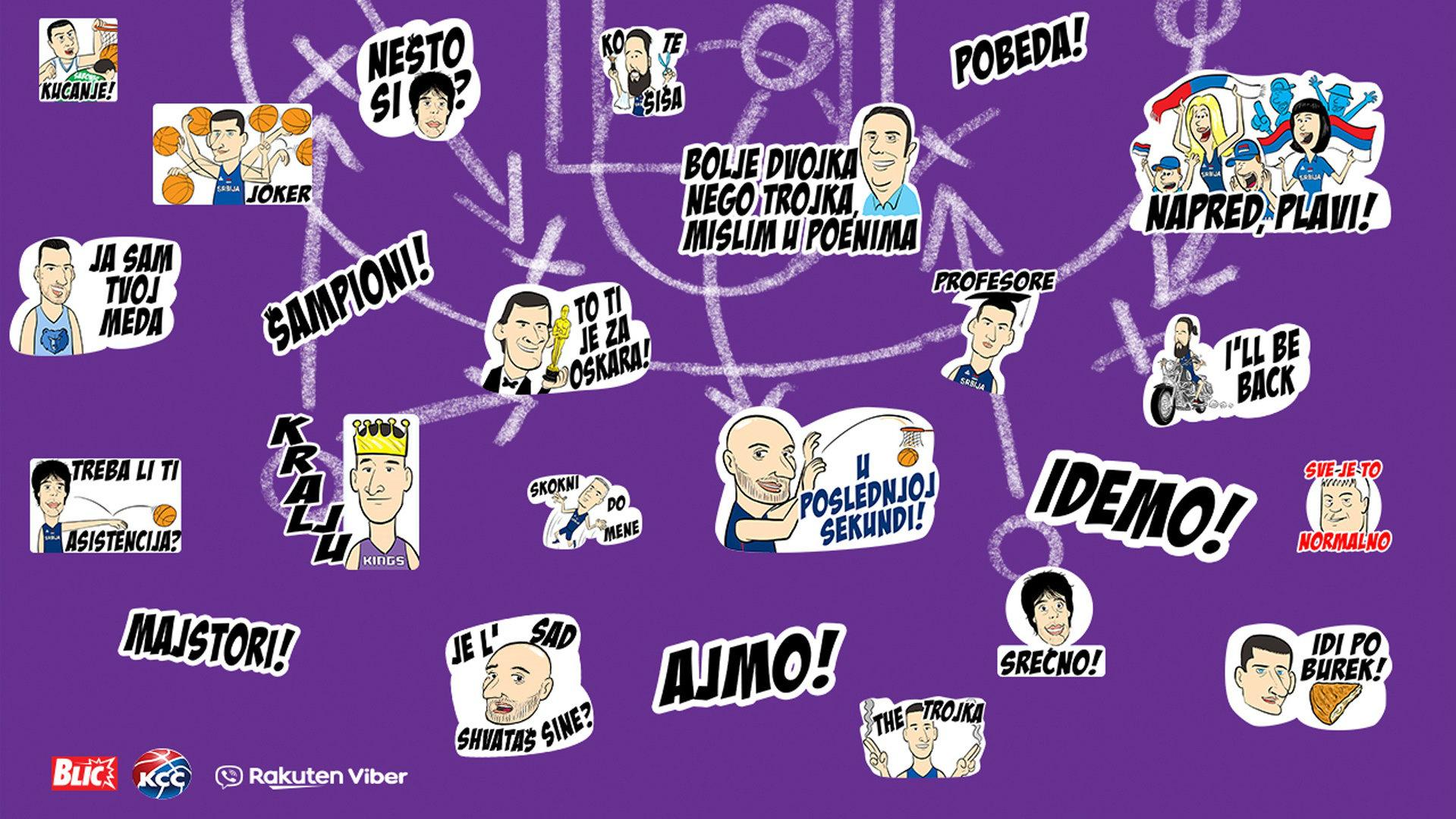 Košarkaška reprezentacija u stikerima besplatno na Viberu (FOTO) 1