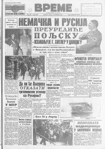 Vest koja je senzacionalno odjeknula u Evropi 1. oktobra pre 80 godina 2