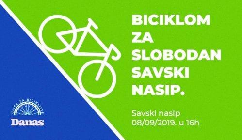Biciklom za slobodan Savski nasip u nedelju 8. septembra 2