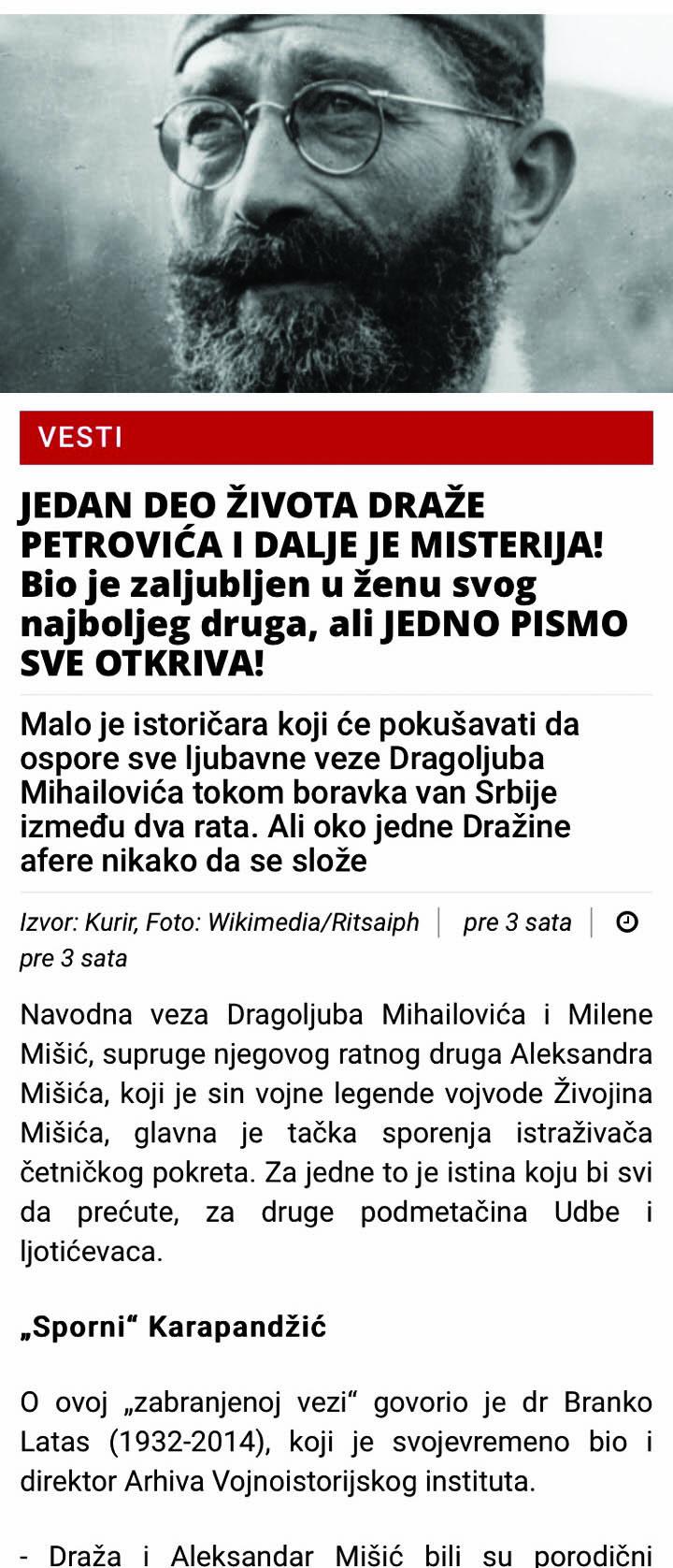 Kako najlakše postati Draža Mihailović 2