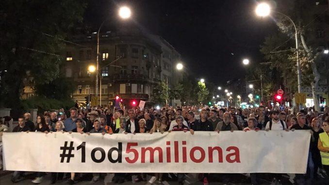 Jedan od pet miliona ove subote bez prijave rute i protesta MUP-u 1