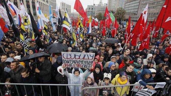 Oko 20.000 ljudi na protestu opozicije u Moskvi 1