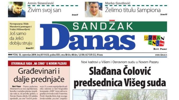 Sandžak Danas - 13. septembar 2019. 1