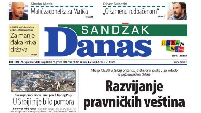 Sandžak Danas - 20. septembar 2019. 1