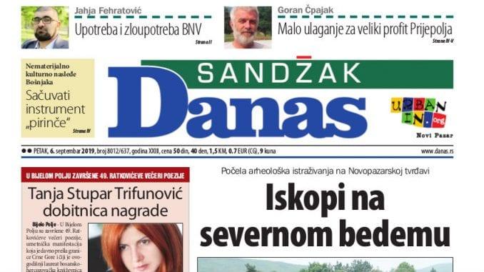 Sandžak Danas - 6. septembar 2019. 1