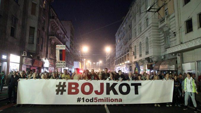 """Protest """"1 od 5 miliona"""" u Beogradu: Podrška Obradoviću i svim uzbunjivačima 3"""