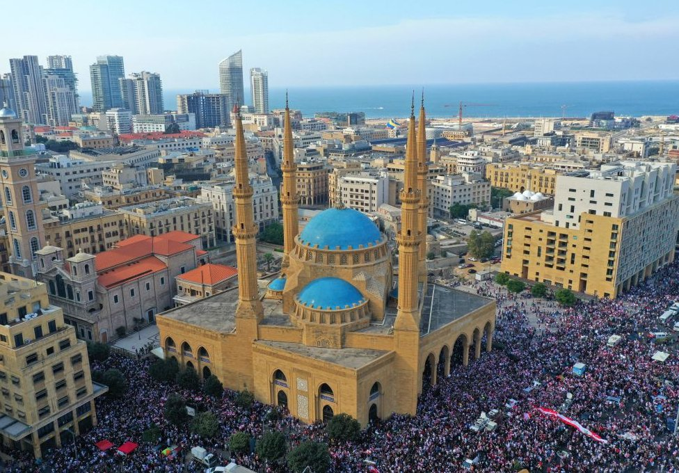 demonstranti u centru bejruta