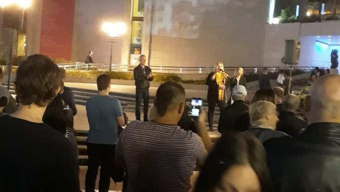 Protest Saveza za Srbiju u Novom Sadu u znaku podrške radniku iz Kuršika 4