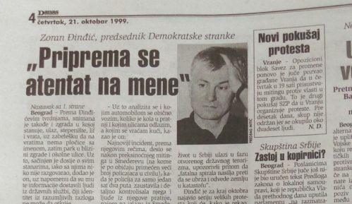 Zoran Đinđić pre 20 godina naslutio atentat na njega 12