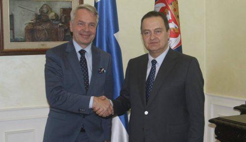 Šef finske diplomatije sa Dačićem: Zapadni Balkan treba da postane deo EU 12