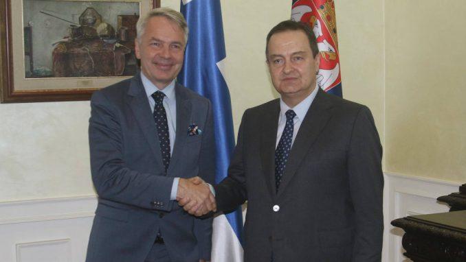Šef finske diplomatije sa Dačićem: Zapadni Balkan treba da postane deo EU 1