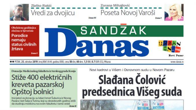 Sandžak Danas -25. oktobar 2019. 1